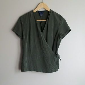 | vintage | 100% silk wrap top